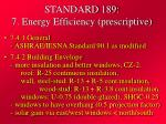 standard 189 7 energy efficiency prescriptive