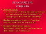 standard 189 compliance