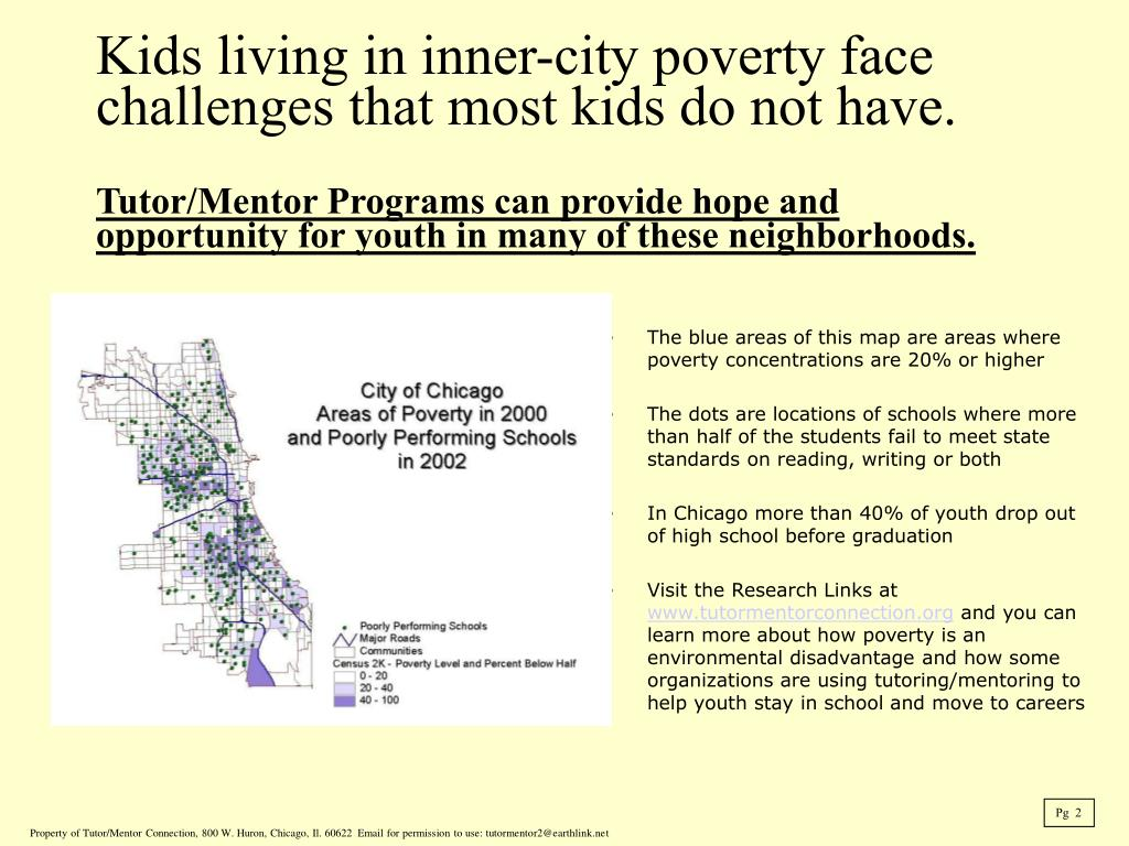 The blue areas of this map are areas where poverty concentrations are 20% or higher