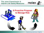the joint commission interim life safety measures