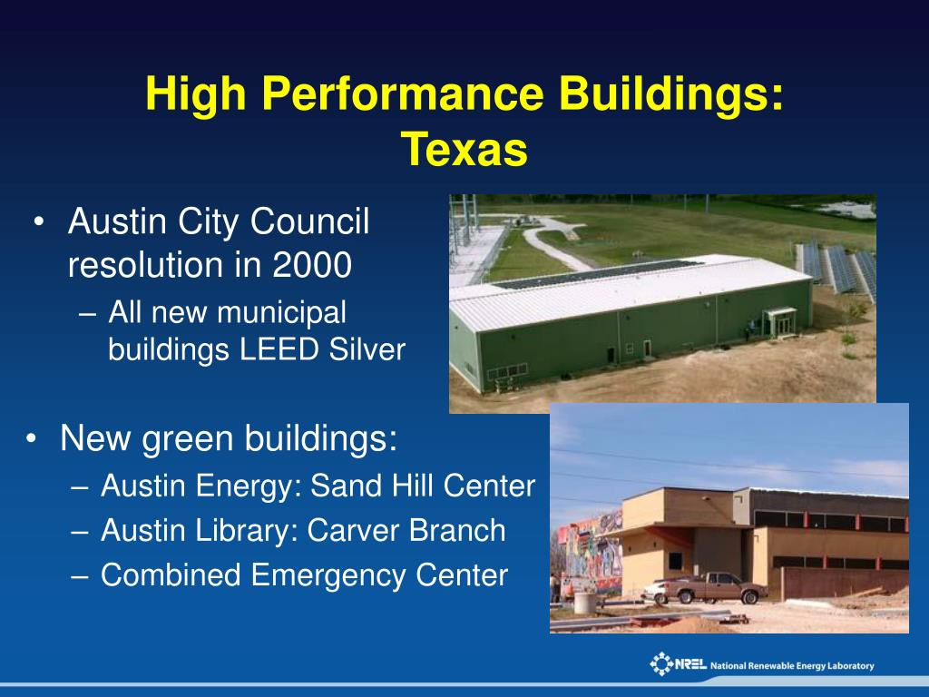 High Performance Buildings: Texas