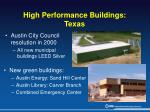 high performance buildings texas