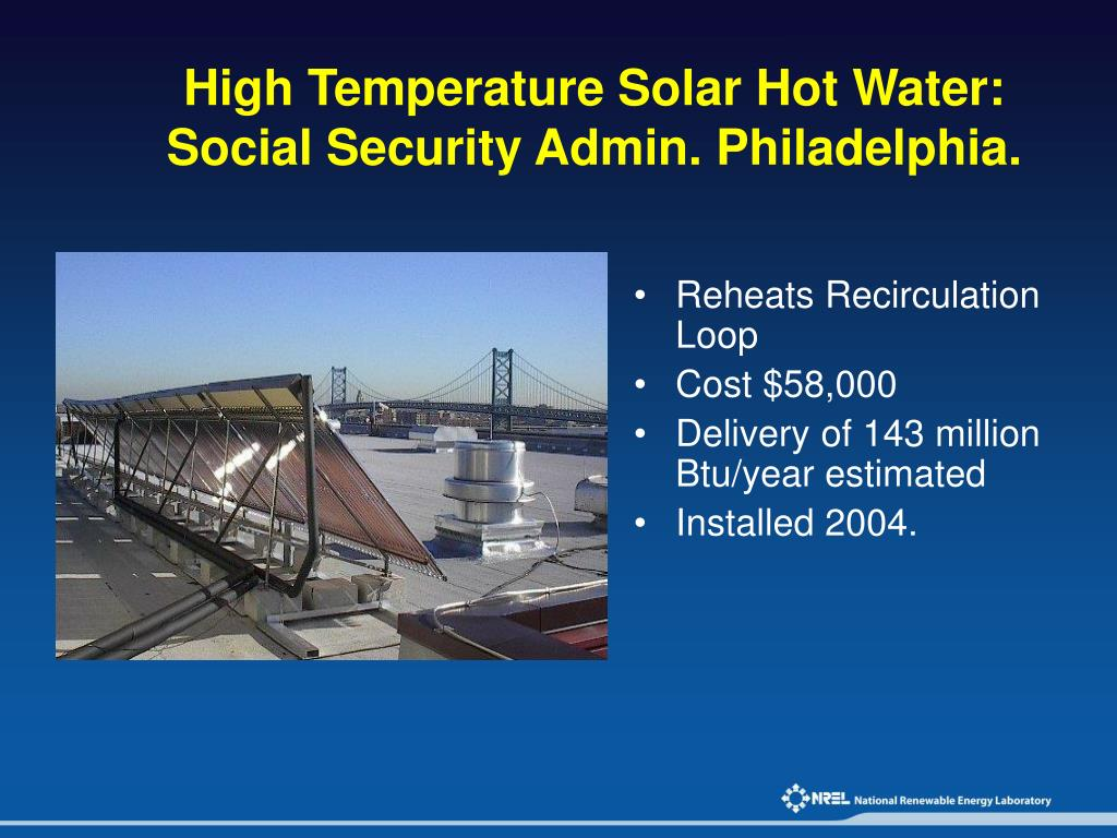 High Temperature Solar Hot Water: