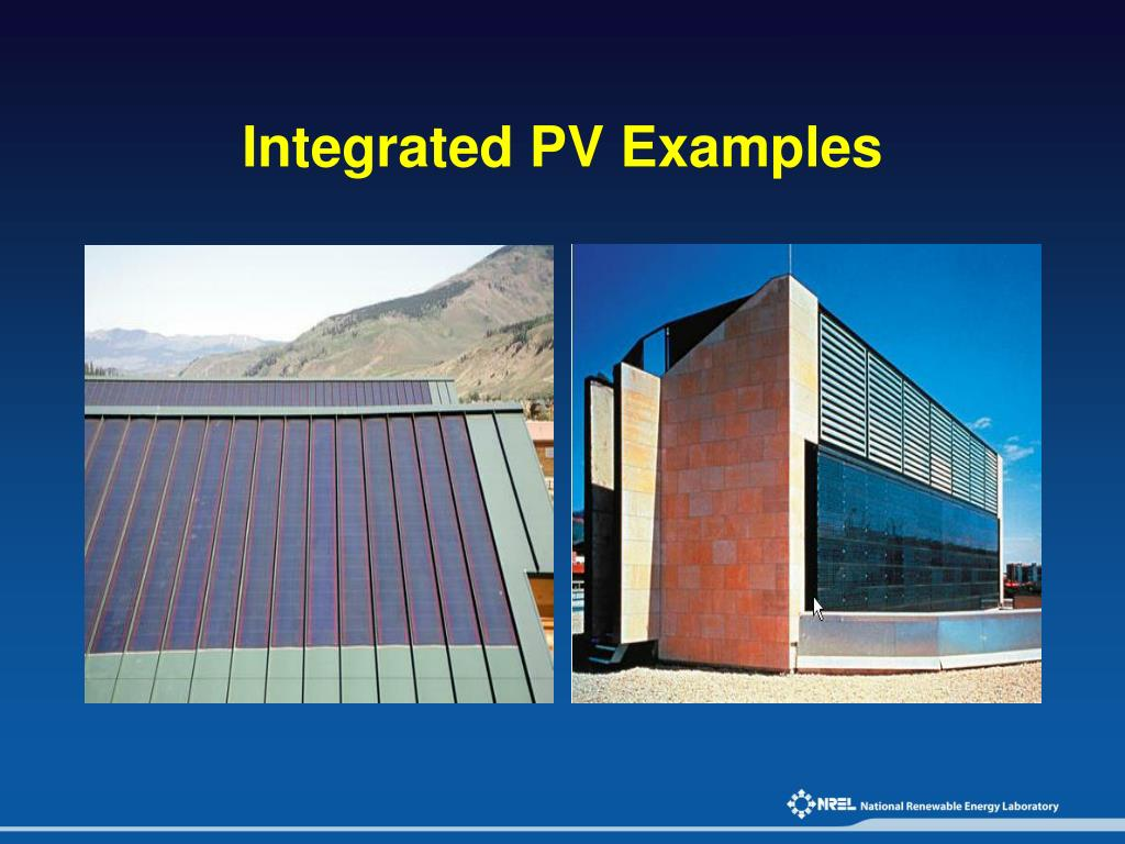 Integrated PV Examples