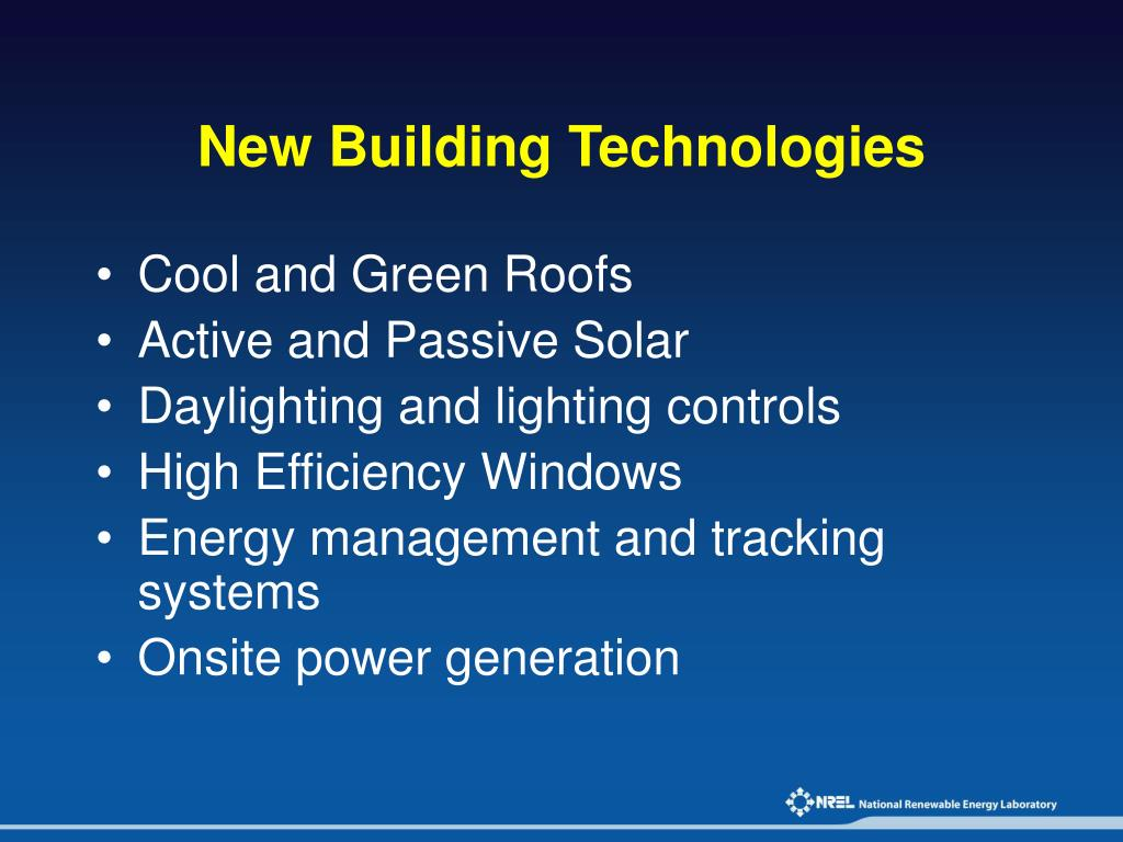 New Building Technologies