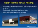 solar thermal for air heating