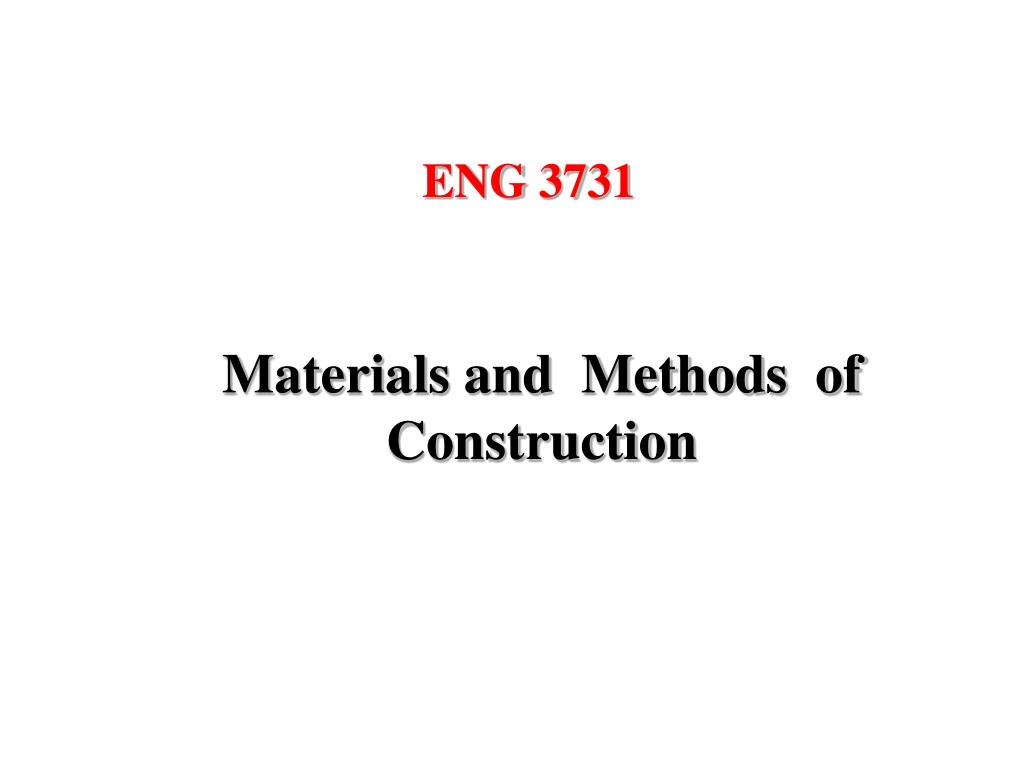materials and methods of construction l.