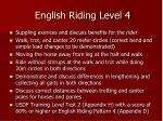 english riding level 4