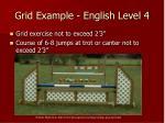 grid example english level 4