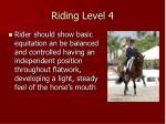 riding level 4