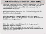 het nash existence theorem nash 1950