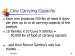 cow carrying capacity