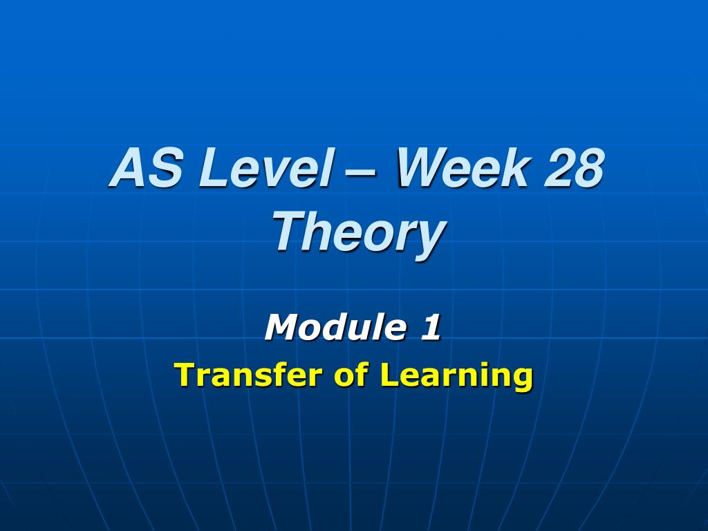 as level week 28 theory l.