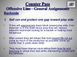 counter pass offensive line general assignments7