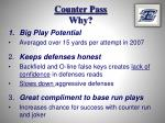counter pass why