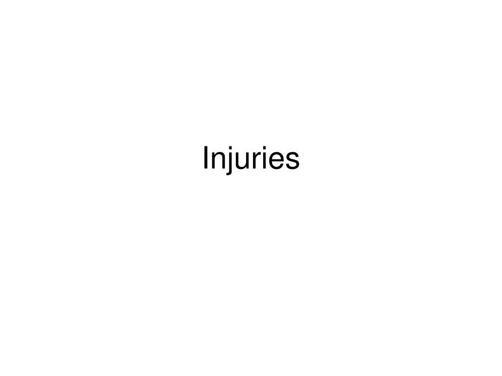 injuries l.