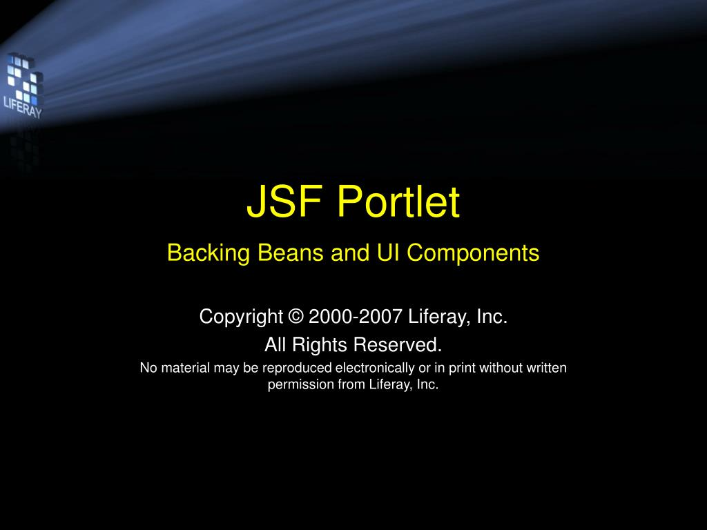 jsf portlet backing beans and ui components l.