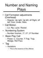 number and naming plays