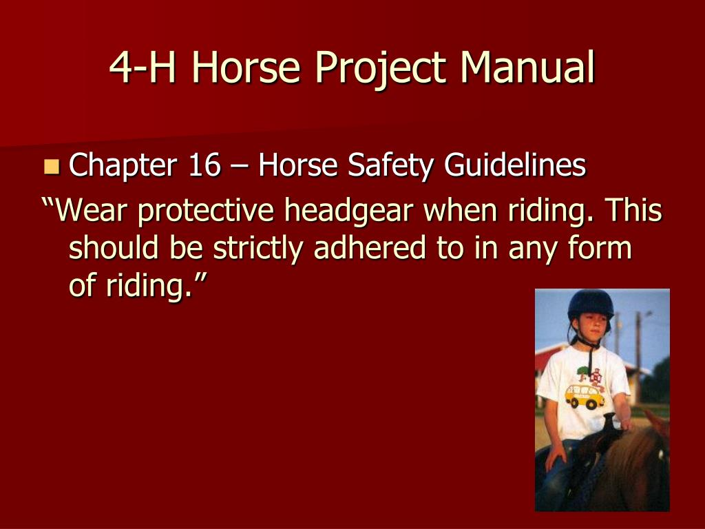 4-H Horse Project Manual
