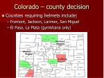 colorado county decision