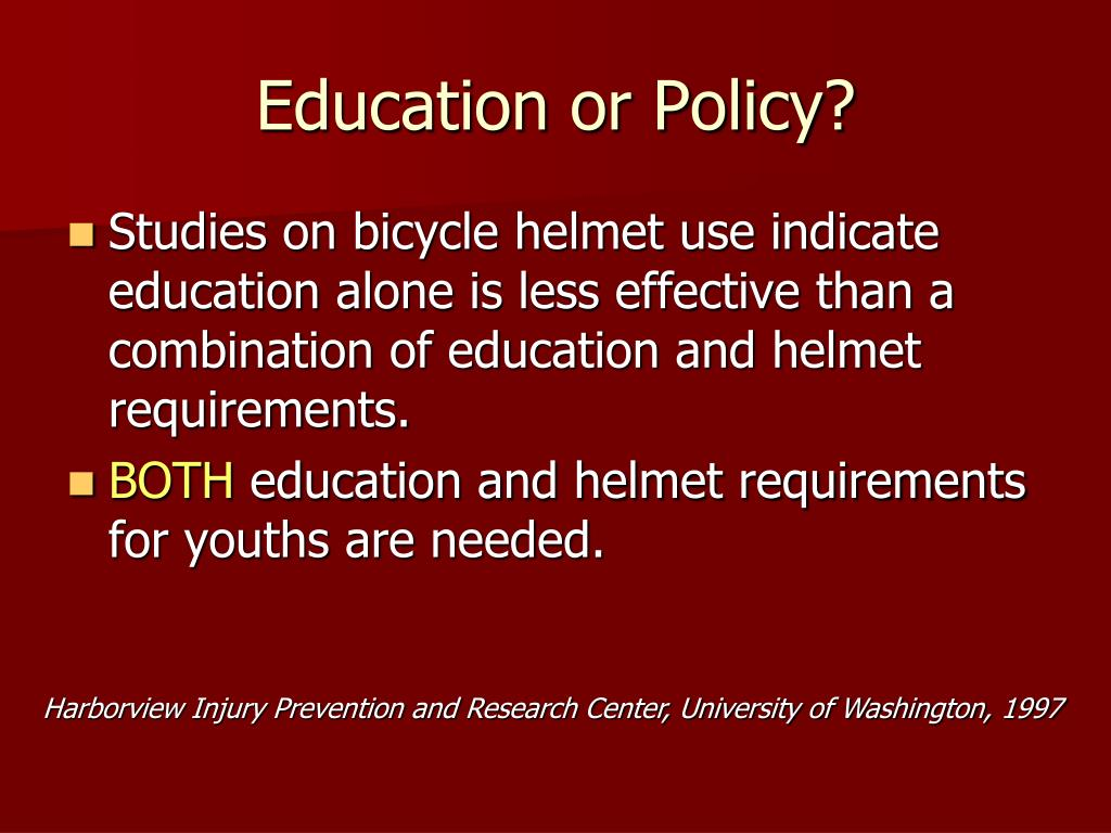Education or Policy?