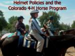 helmet policies and the colorado 4 h horse program