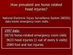how prevalent are horse related head injuries
