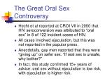 the great oral sex controversy