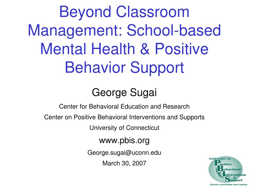 Ppt Beyond Classroom Management School Based Mental Health