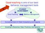 good teaching is one of our best behavior management tools