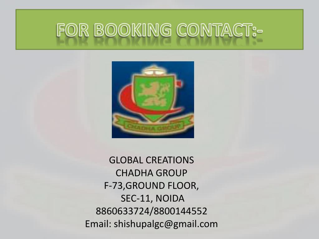 FOR BOOKING CONTACT:-
