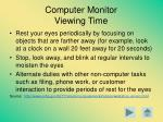 computer monitor viewing time