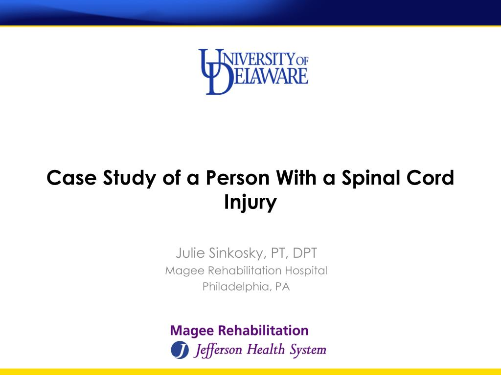 case study of a person with a spinal cord injury l.