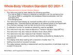whole body vibration standard iso 2631 130