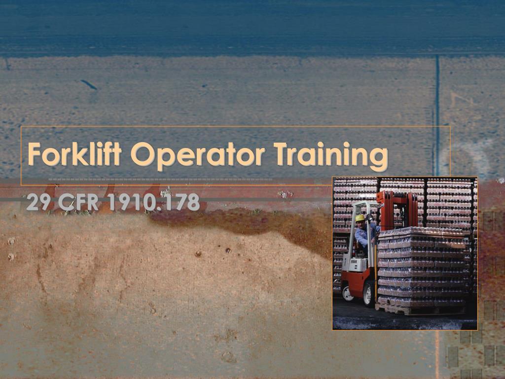 forklift operator training l.