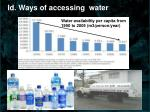 id ways of accessing water