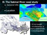 iii the sabinal river case study a general info location