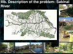 iiib description of the problem sabinal river