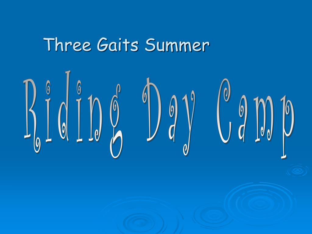 three gaits summer l.