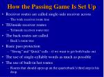 how the passing game is set up30
