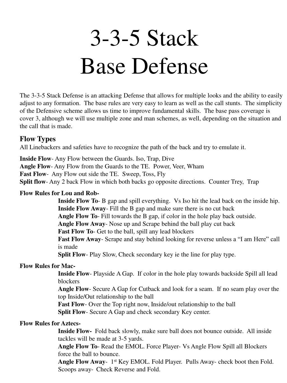 3 3 5 stack base defense l.