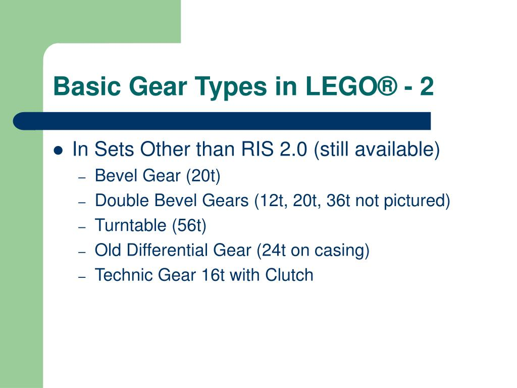 Basic Gear Types in LEGO