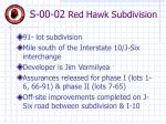 s 00 02 red hawk subdivision