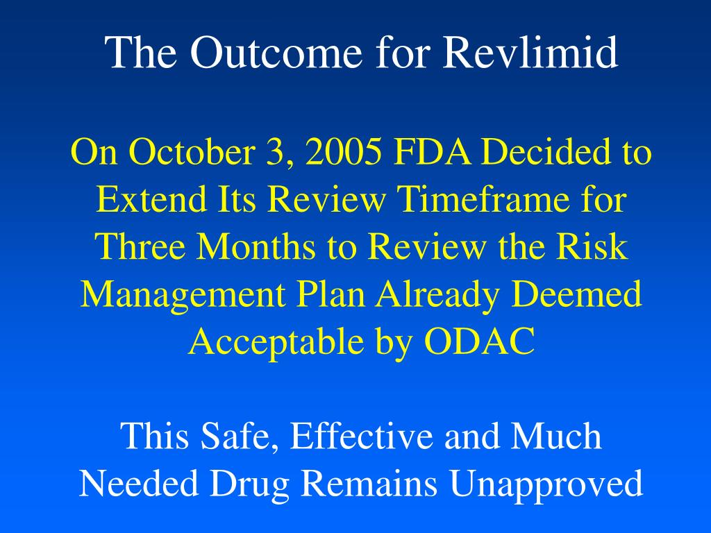 The Outcome for Revlimid