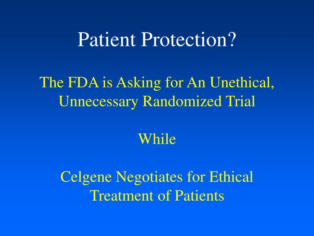 Patient Protection?