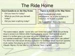 the ride home