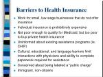 barriers to health insurance