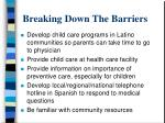 breaking down the barriers30