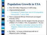 population growth in usa