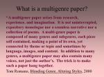 what is a multigenre paper